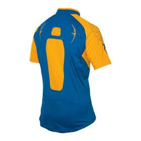 PEARL iZUMi X-Alp Jersey Men mykonos blue/blazing orange